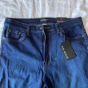 Fashion Nova dark wash high-waisted skinny jeans